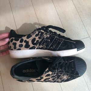 Shoes - Leopard print adidas sneakers